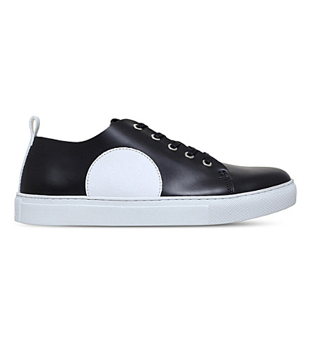MCQ ALEXANDER MCQUEEN Chris leather trainers (Black