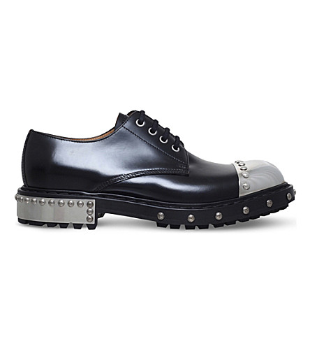 ALEXANDER MCQUEEN Hobnail leather Derby shoes (Black/comb