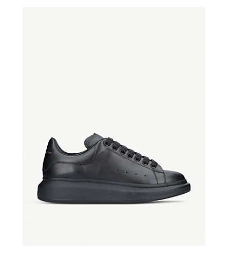 ALEXANDER MCQUEEN Show leather platform trainers (Black