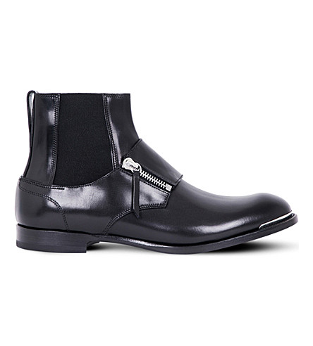 ALEXANDER MCQUEEN Leather Chelsea boots (Black