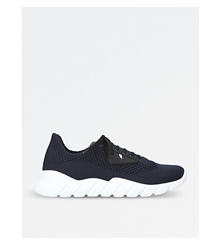 FENDI Monster mesh trainers (Navy
