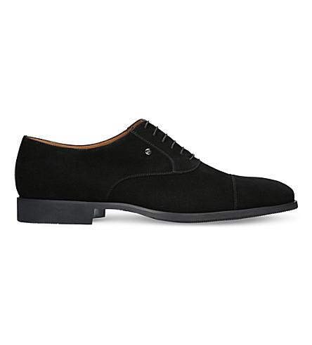 STEMAR Suede oxford shoes (Black