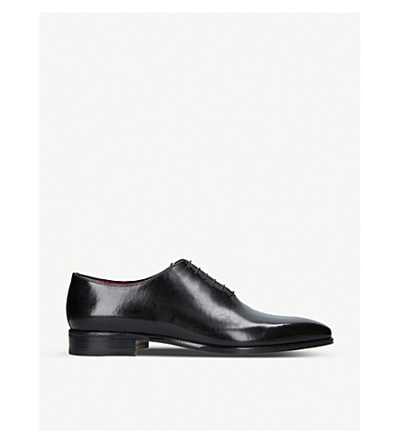 STEMAR Wholecut leather Oxford shoes (Black