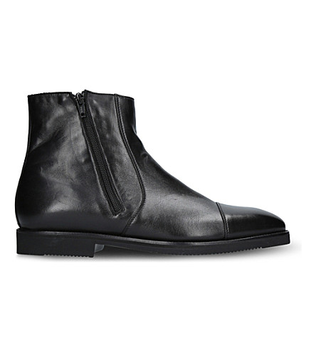 STEMAR Side-zip leather boots (Black