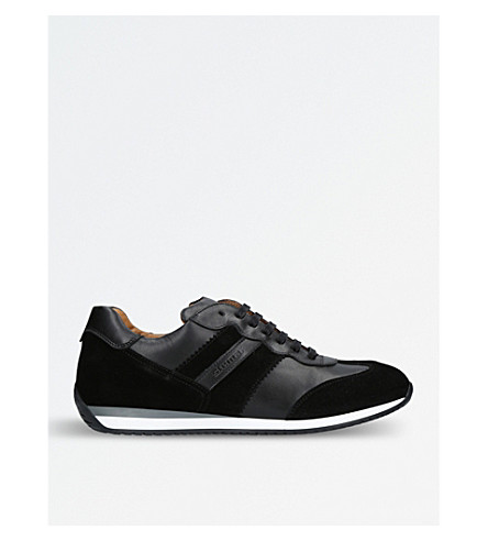 STEMAR Runner suede and leather trainers (Black
