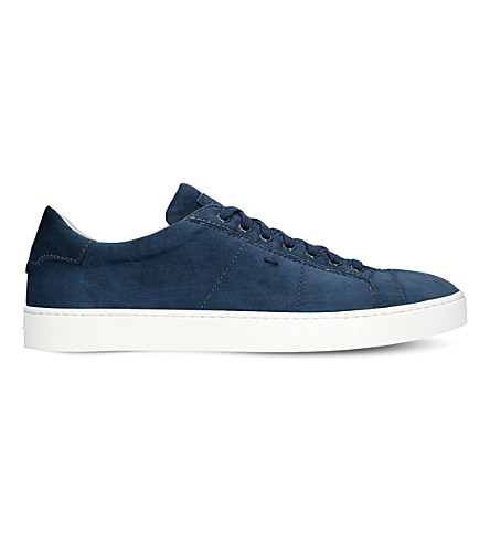 SANTONI Gloria unlined suede trainers (Blue