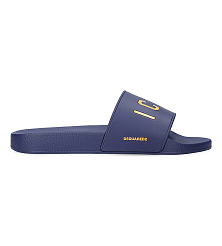 DSQUARED2 Icon pool rubber sliders (Blue other