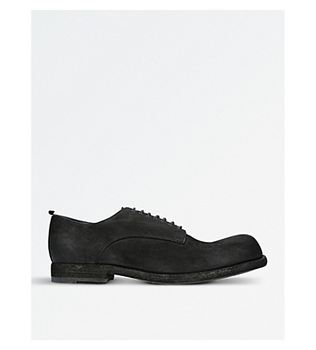OFFICINE CREATIVE Bubble leather Derby shoes (Black