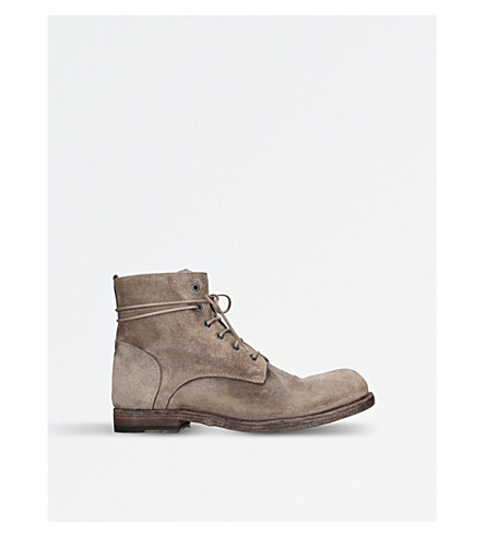 OFFICINE CREATIVE Bubble suede ankle boots (Taupe