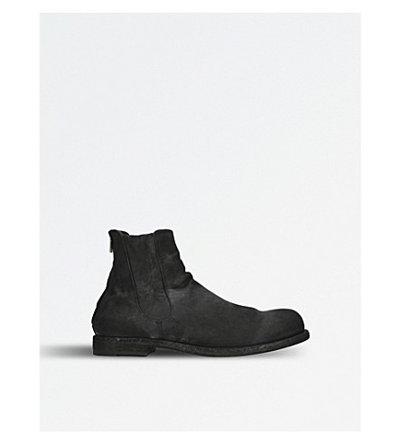 OFFICINE CREATIVE Bubble suede Chelsea boots (Black