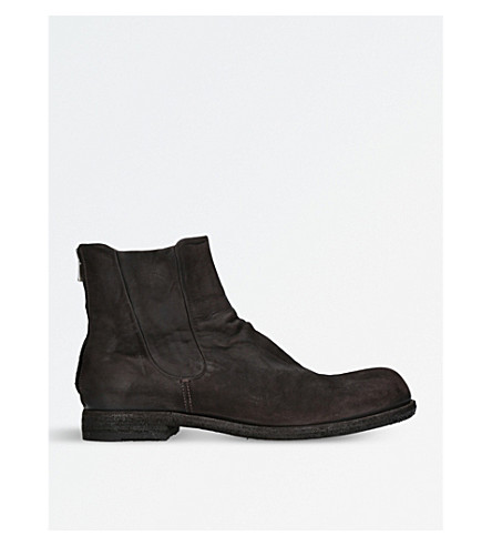OFFICINE CREATIVE Bubble leather Chelsea boots (Brown