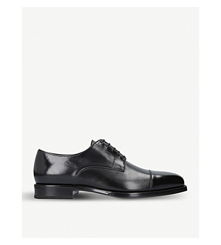 TOM FORD Wessex leather derby shoes (Black