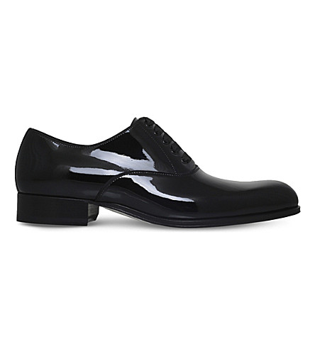 TOM FORD Edgar Evening patent-leather Oxford shoes (Black