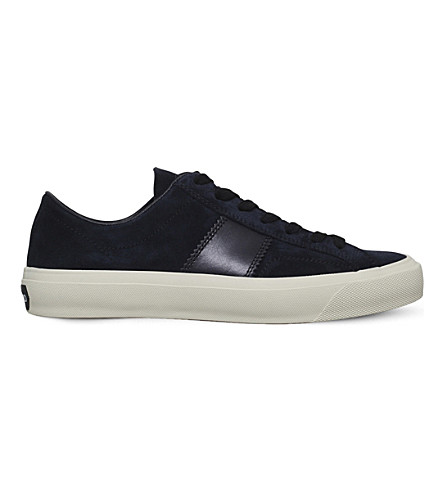 TOM FORD Cambridge suede low-top trainers (Navy