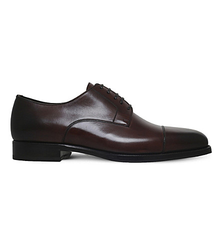 TOM FORD Wessex leather derby shoes (Brown