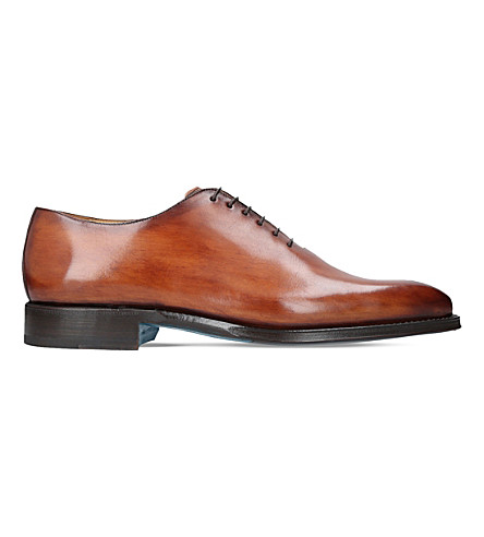 SUTOR MANTELLASSI Oliver leather Oxford shoes (Tan