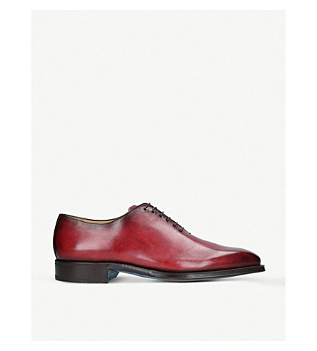 SUTOR MANTELLASSI Oliver leather Oxford shoes (Red