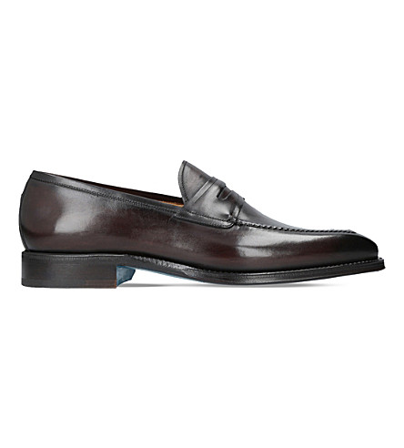 SUTOR MANTELLASSI Olimpo leather loafers (Dark+brown
