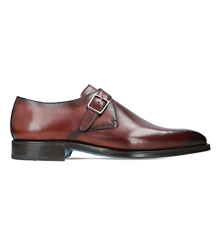 SUTOR MANTELLASSI Oreste single strap leather monk shoes (Brown