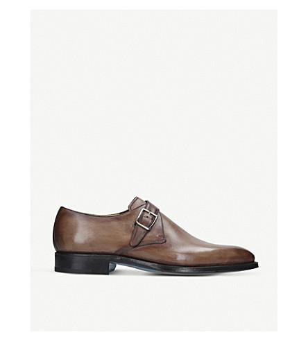 SUTOR MANTELLASSI Oreste single strap leather monk shoes (Beige