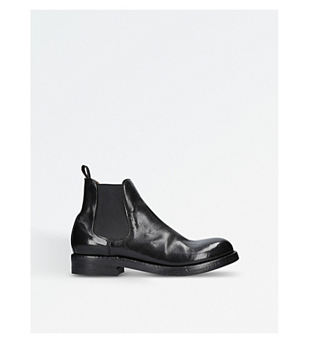 OFFICINE CREATIVE Serviceman leather Chelsea boots (Black