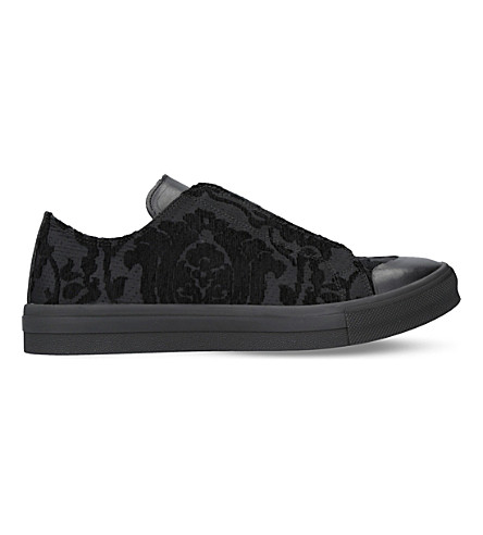 ALEXANDER MCQUEEN Floral-jacquard trainers (Black