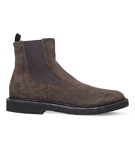 OFFICINE CREATIVE Stanford suede Chelsea boots (Brown