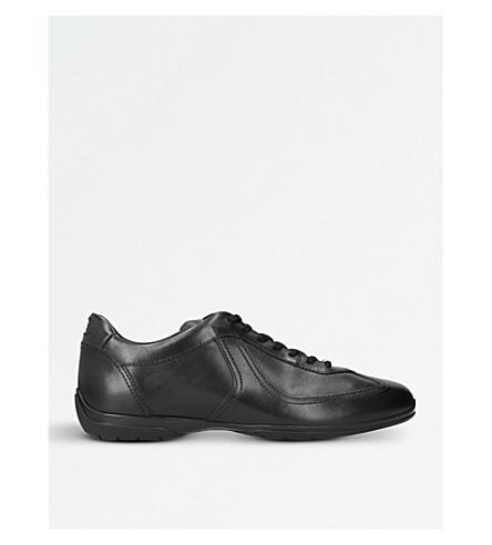 SANTONI Lo Pro leather trainers (Black