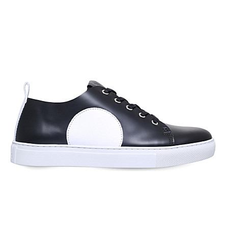 MCQ ALEXANDER MCQUEEN Chris leather trainers (Blk/white