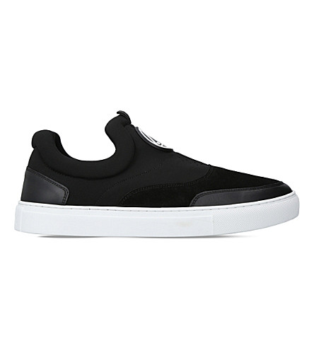 MCQ ALEXANDER MCQUEEN Youko neoprene and leather skate shoes (Blk/white