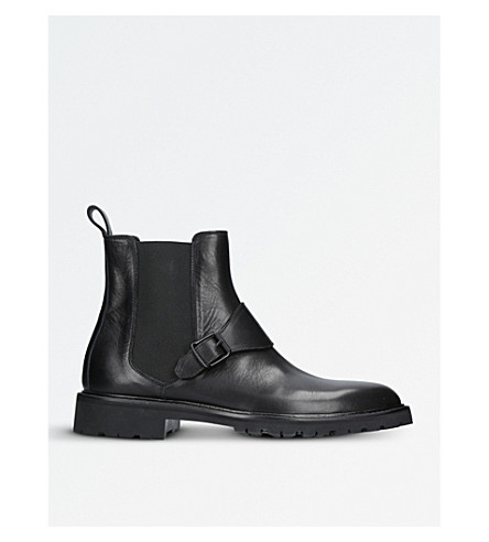 BELSTAFF Plaistow leather boots (Black