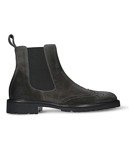 BELSTAFF Lancaster suede boots (Grey