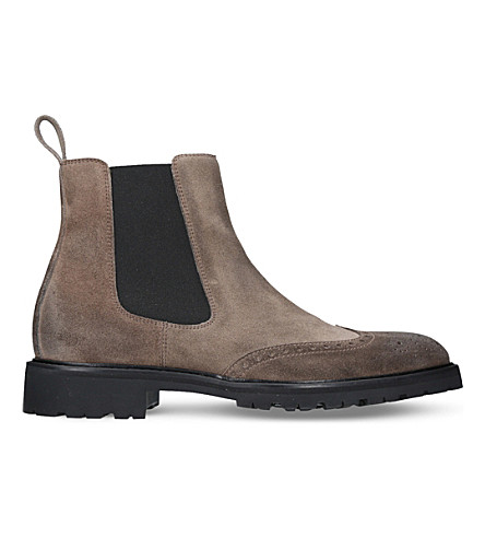 BELSTAFF Lancaster suede boots (Taupe