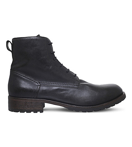 BELSTAFF Alperton leather boots (Black