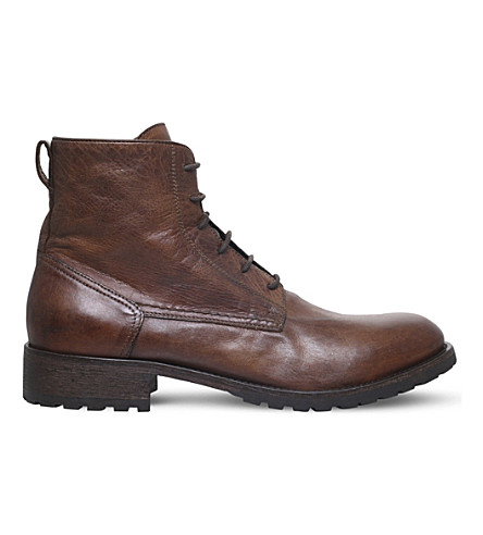 BELSTAFF Alperton leather boots (Tan