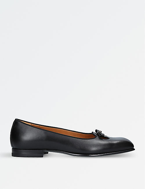GUCCI Show Fancy leather slip-on shoes