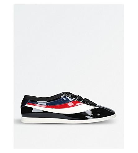 GUCCI Falacer 漆皮运动鞋 (黑色