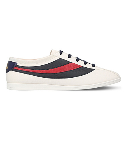 GUCCI Falacer leather trainers (White
