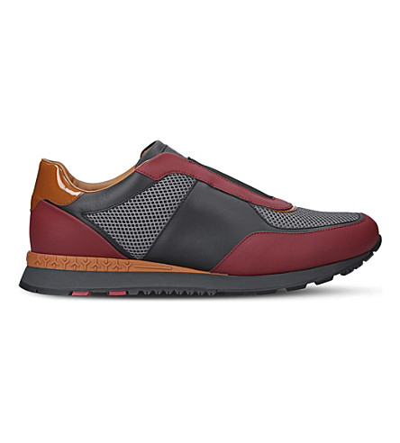 BALLY Asmund leather trainers (Blk/red