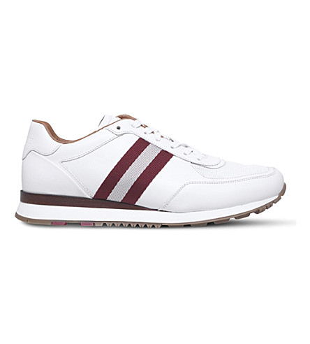 BALLY Aston leather trainers (White
