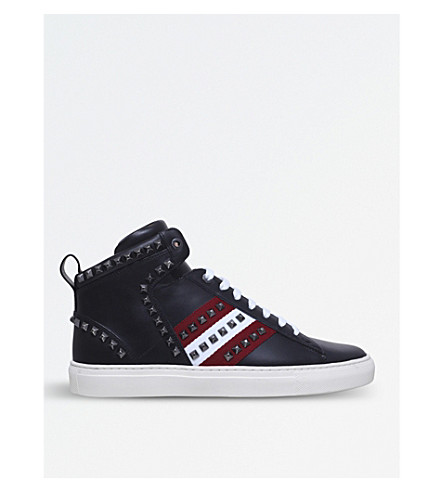 BALLY Herk leather and mesh trainers (Black