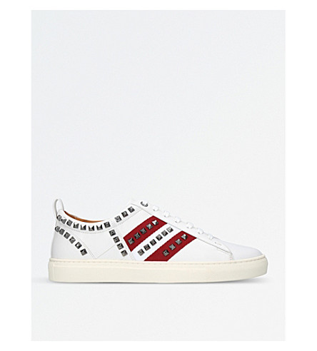 BALLY Helvio studded leather trainers (White