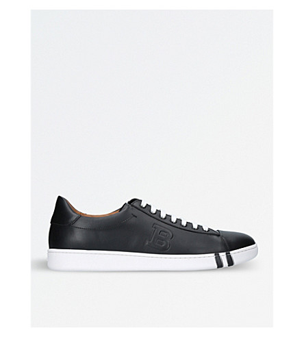 BALLY Asher leather tennis trainers (Black