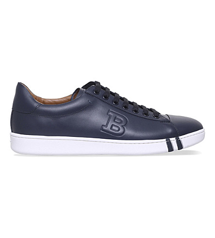 BALLY Asher leather tennis trainers (Navy
