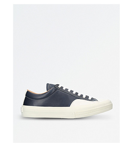 DRIES VAN NOTEN Leather trainers (Navy