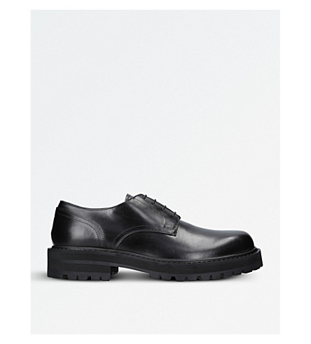 DRIES VAN NOTEN Commando leather Derby shoes (Black
