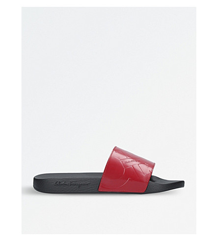 SALVATORE FERRAGAMO Dash pool sliders (Red