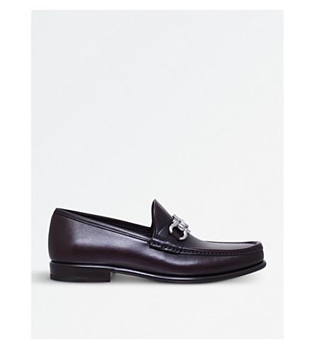 SALVATORE FERRAGAMO Mason leather loafers (Brown