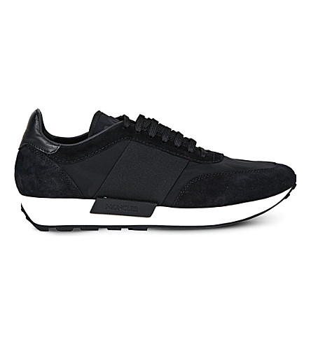 MONCLER Horace suede and textile trainers (Black