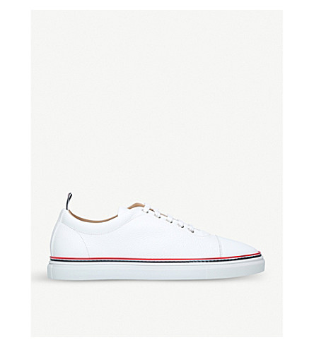 THOM BROWNE Toecap leather trainers (White